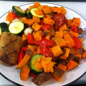 Duck, turkey and roast veg for lunch in work (all cooked on Sunday)